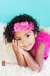 Hot Pink Chiffon Trio Baby Headband