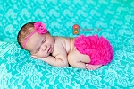 Hot Pink Pearl and Rhinestone Headband and Matching Bloomers