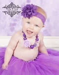 Purple Chiffon Lace Baby Headband