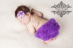 Purple Floral Baby Headband and Purple Ruffle Bloomers Set