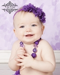 Purple Chiffon Trio Baby Headband