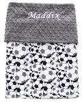 Personalized Soccer Double Minky Baby Blanket