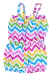 Chevron Rainbow Baby Jumpsuit