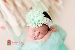 Mint Chiffon Lace Baby Headband