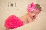 Pink Starburst Chiffon Lotus Flower Baby Headband and Hot Pink Bloomers