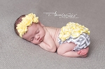 Yellow Chiffon Trio Baby Headband